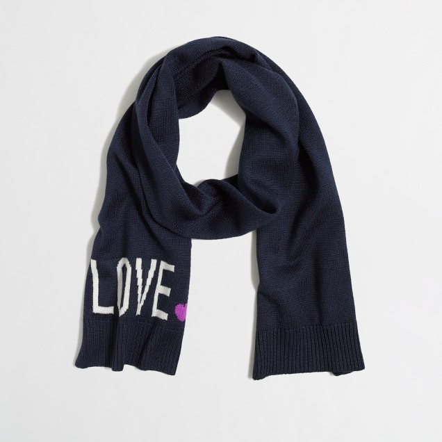 Factory girls' love scarf
