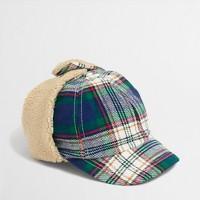 Factory boys' plaid trapper hat