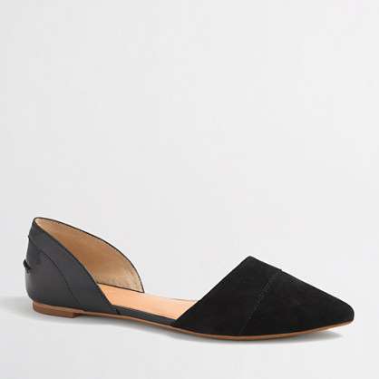 Factory d'orsay suede flats