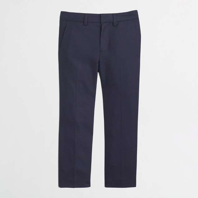 Boys' Thompson suit pant in navy wool