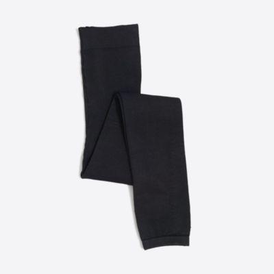 Girls' fleece-lined footless tights   sale