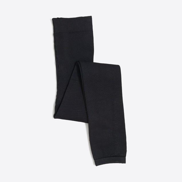 Girls' fleece-lined footless tights