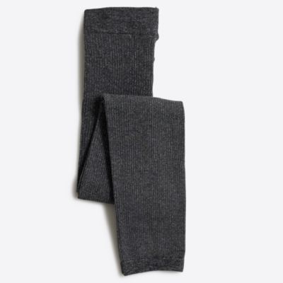 Girls' fleece-lined footless tights