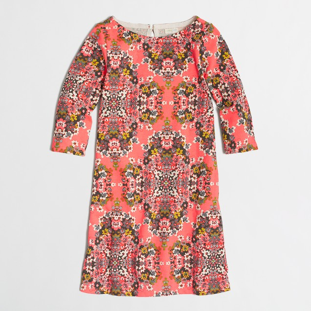 Factory girls' floral printed dress