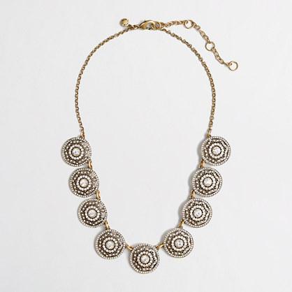 Factory crystal pinwheel necklace