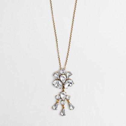 Factory crystal drop pendant