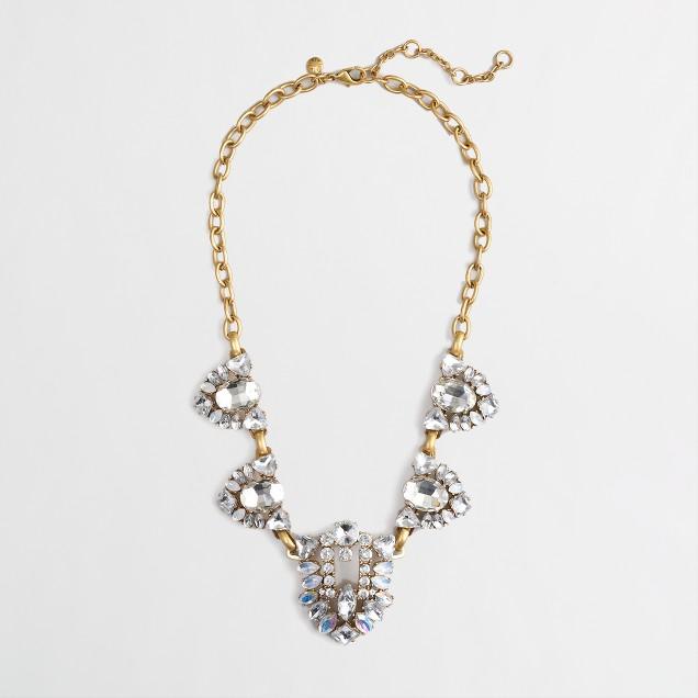 Factory crystal cones necklace