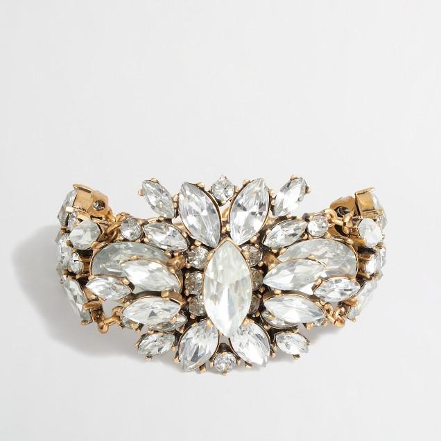 Factory crystal bursts bracelet