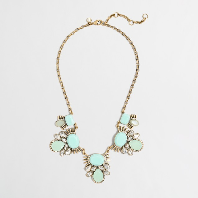 Factory STONE AND CRYSTAL CLUSTERS NECKLACE