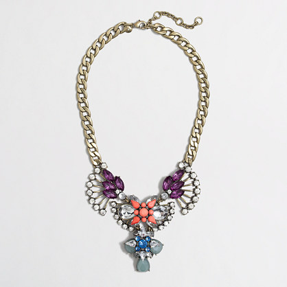 Jeweled art deco necklace