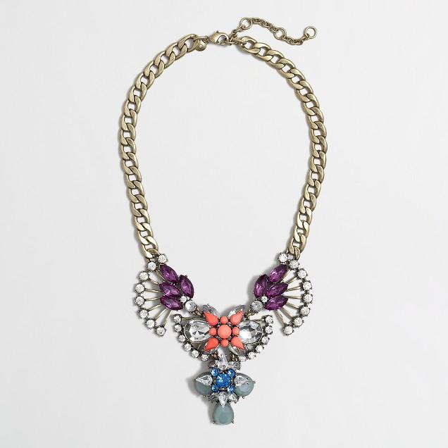 Jeweled art deco necklace