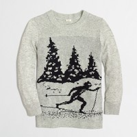 Factory intarsia skier sweater