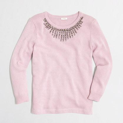 Factory embellished starburst sweater