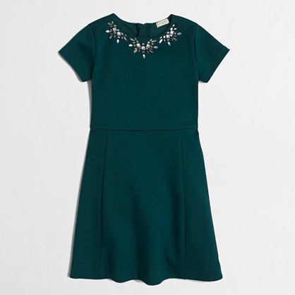 Factory girls' short-sleeve necklace dress