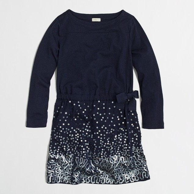 Factory girls' sequin-skirt dress