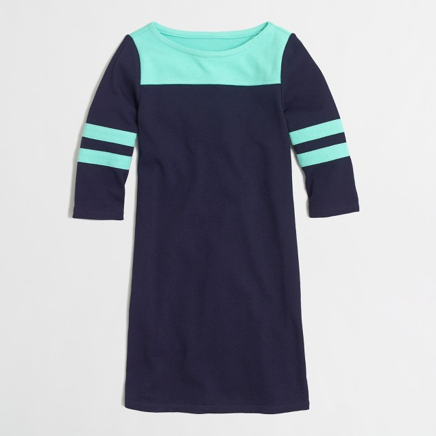 Factory girls' varsity-stripe dress