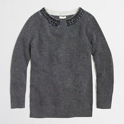 Factory embellished sweater