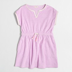 Factory girls' terry beach dress