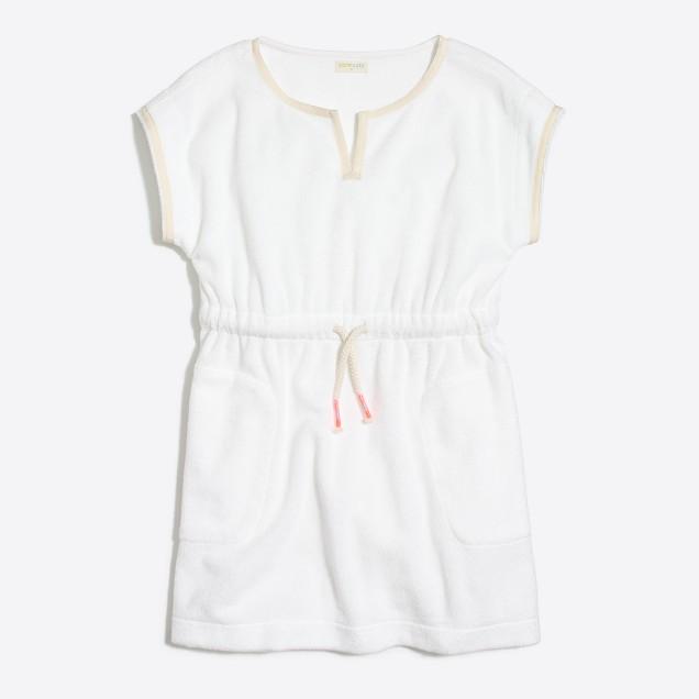 Girls' terry beach dress