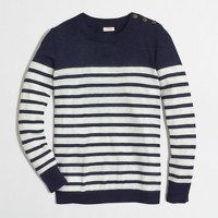 Shoulder-button Charley sweater in stripe