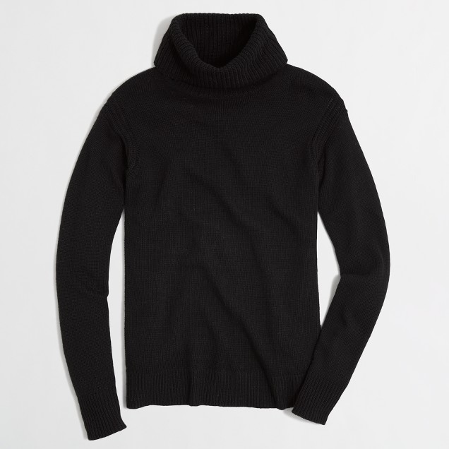 Factory warmspun turtleneck sweater
