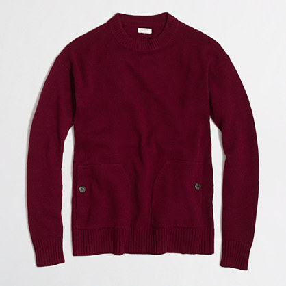 Factory patch-pocket sweater