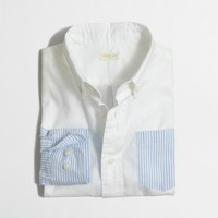 Boys' colorblock pinpoint oxford shirt