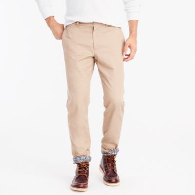 Sutton flannel-lined chino