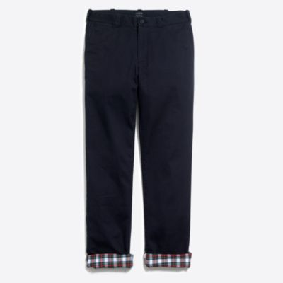 Sutton straight-fit flannel-lined chino   search