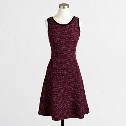 Factory knit tweed sleeveless dress