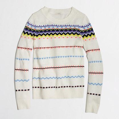 Factory zigzag Fair Isle sweater