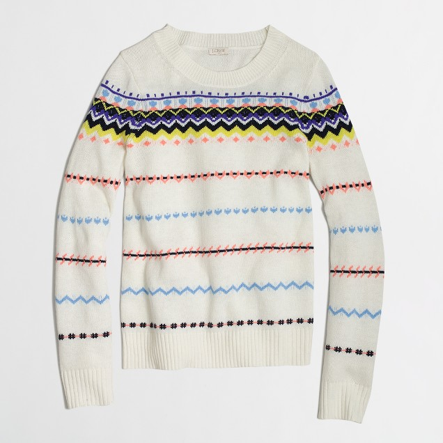 Factory zigzag Fair Isle sweater