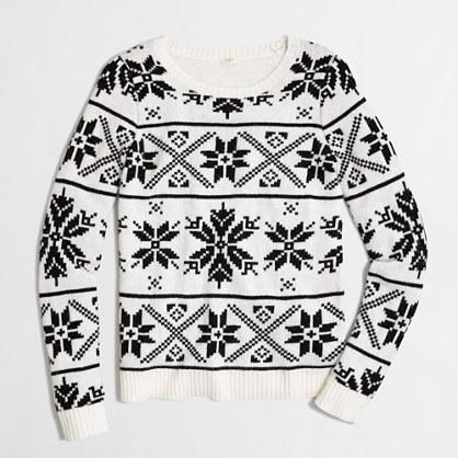 Factory snowflake Fair Isle sweater