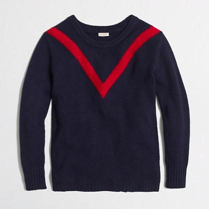 Factory intarsia chevron sweater