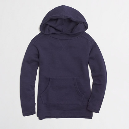 Factory girls' hooded sweatshirt