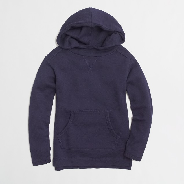 Factory girls' hooded sweatshirt
