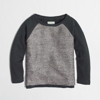 Factory girls' colorblock shiny sweatshirt