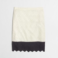 Factory pencil skirt in colorblock lace