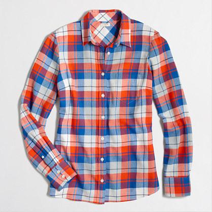 Perfect boyfriend shirt in flannel