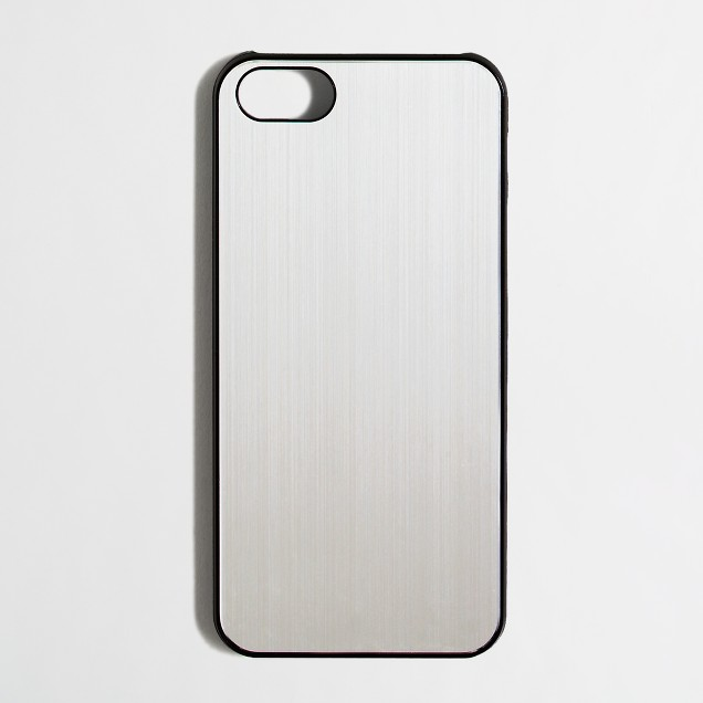 Factory silver phone case for iPhone® 5