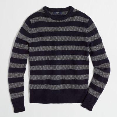 Factory lambswool fair isle stripe sweater : | Factory