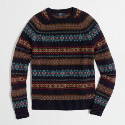 Fair Isle crewneck sweater : FactoryMen Lambswool | Factory