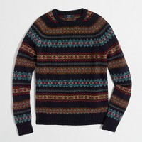 Tall Fair Isle crewneck sweater