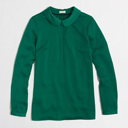 Factory peter pan collar blouse