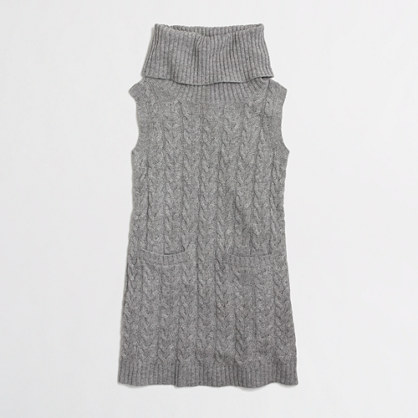 Factory girls' wool-blend cable dress