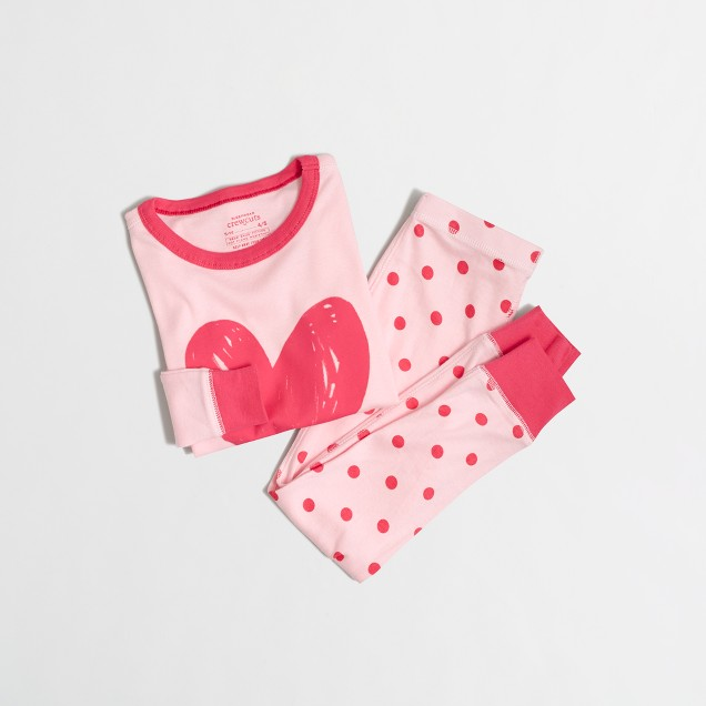 Factory girls' sleep set with polka-dot pant