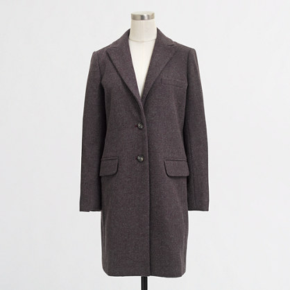 Factory wool-blend topcoat