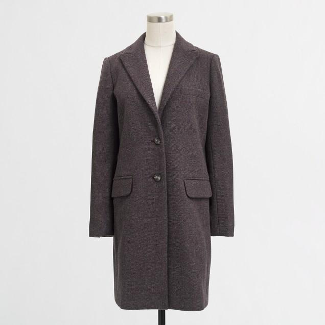 Factory wool-blend topcoat