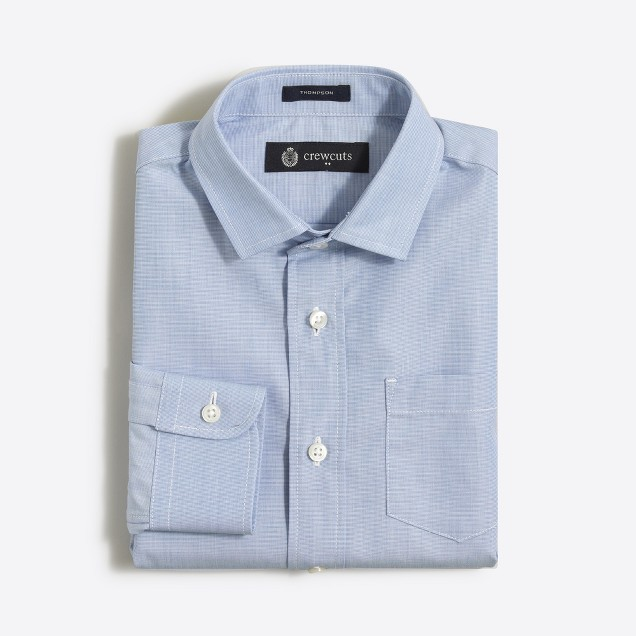 Boys' end-on-end Thompson dress shirt