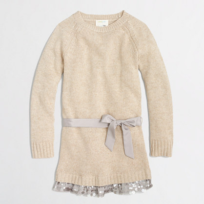 Factory girls' sweater-dress with sequin skirt